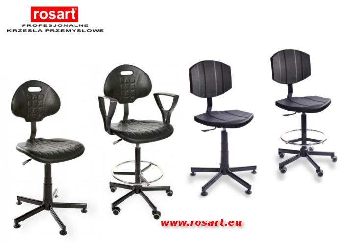 krzesła przemysłowe warsztatowe szwalnicze laboratoryjne